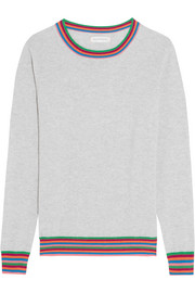 Chinti and Parker Stripe Cuff cashmere sweater