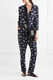 Chinti and Parker Printed silk-blend crepe de chine jumpsuit