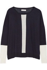Chinti and Parker Tow-tone merino wool sweater