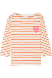 Chinti and Parker Printed striped cotton-jersey T-shirt