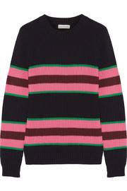 Chinti and Parker Striped cotton and silk-blend sweater