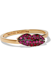 18-karat gold ruby ring