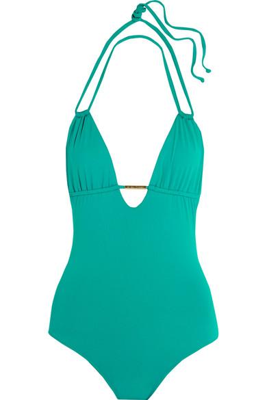 Melissa Odabash - Casablanca Halterneck Swimsuit - Green