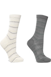 Falke Set of two jacquard-knit socks