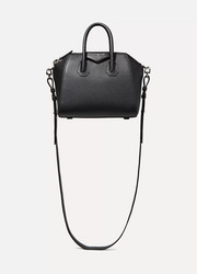 Antigona mini textured-leather shoulder bag