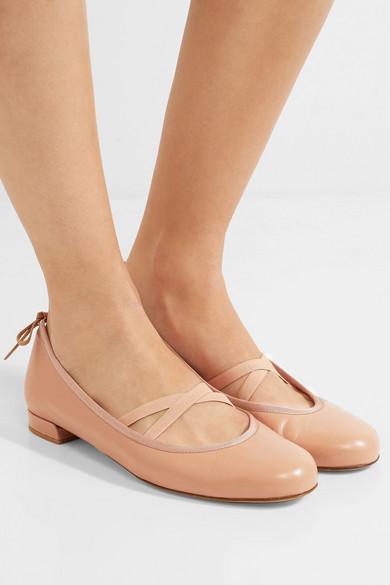 347d386f7489 Stuart Weitzman. Bolshoi leather ballet flats