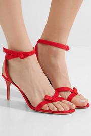 AquazzuraPassion bow-embellished suede sandals