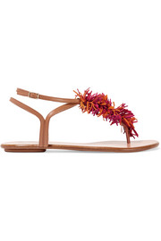 Wild Thing fringed suede and leather sandals