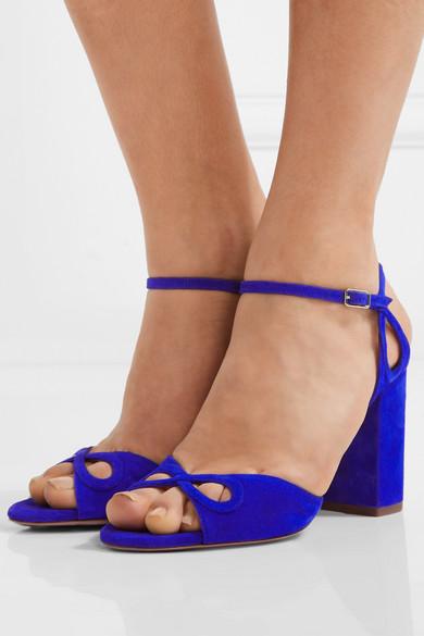 565060b411596f Vera cutout suede sandals