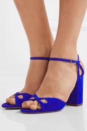 AquazzuraVera cutout suede sandals