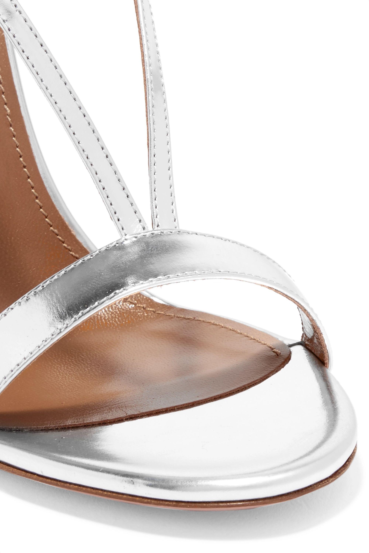 Aquazzura Casanova metallic leather sandals