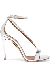 Aquazzura Casanova metallic leather sandals