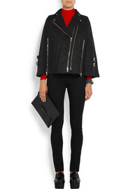 Givenchy Zip-detailed cape in washed cotton-blend canvas