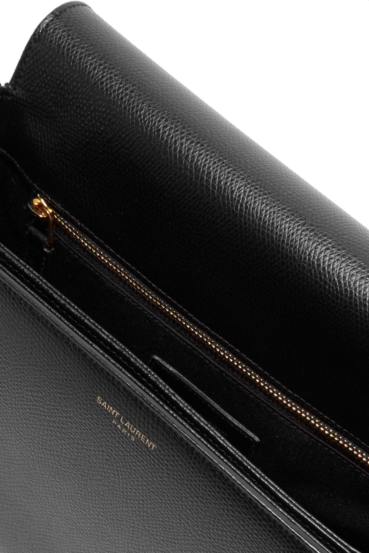 SAINT LAURENT Monogramme Sac Université textured-leather shoulder bag