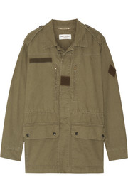 Cotton and linen-blend gabardine jacket