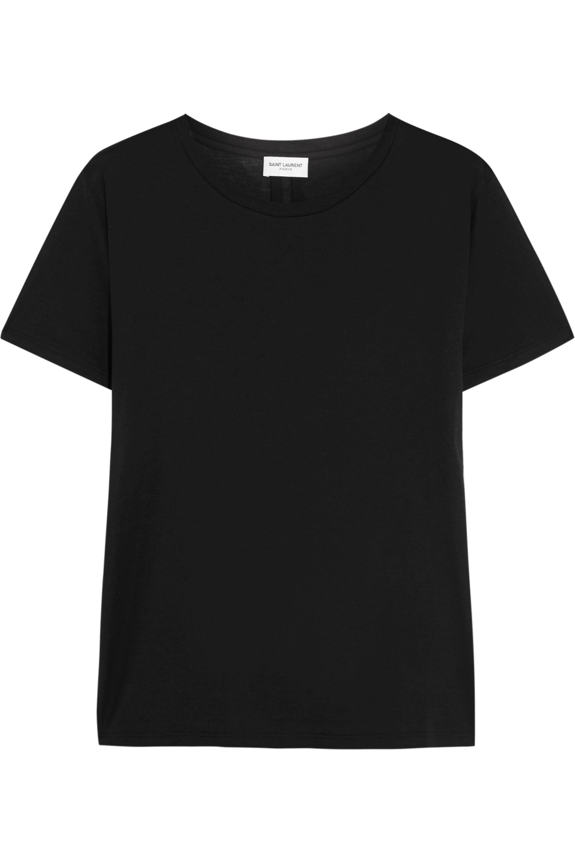 SAINT LAURENT Cotton-jersey T-shirt