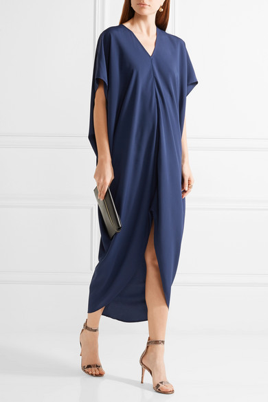 Hatch riviera draped crepe de chine dress net a porter com for Net a porter