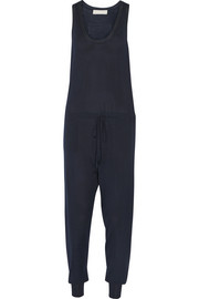 Wool and silk-blend jumpsuit