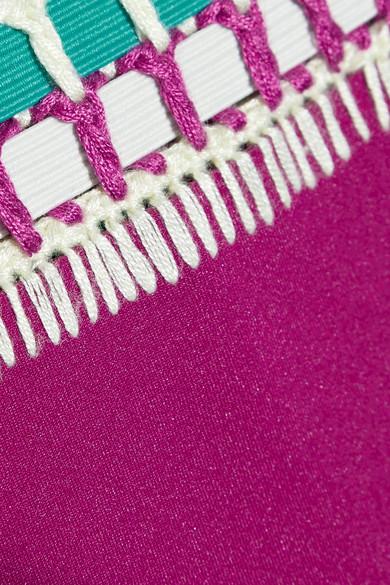 dfcf3d1d0f6a8 Kiini | Coco crochet-trimmed triangle bikini briefs | NET-A-PORTER.COM