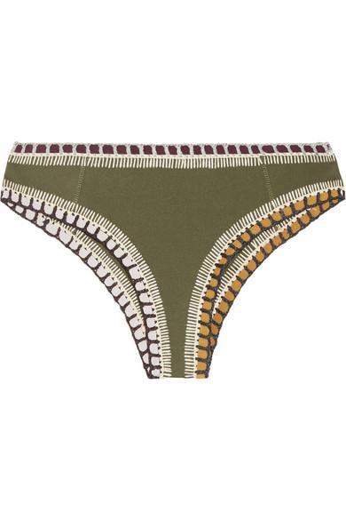 c9412b53a7 Kiini | Wren crochet-trimmed bikini briefs | NET-A-PORTER.COM