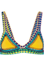 Ro crochet-trimmed triangle bikini top