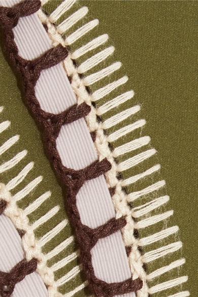 KIINI Cottons WREN CROCHET-TRIMMED BIKINI BRIEFS