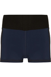 Perforated stretch shorts