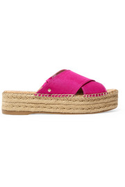 Natty slub satin espadrille sandals
