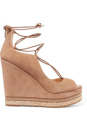 Harriet suede espadrille wedge sandals