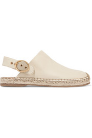 Jazzy leather slingback espadrilles