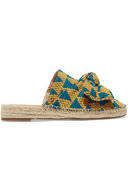 Lynda bow-embellished canvas espadrilles