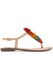 Gates pompom-embellished leather sandals