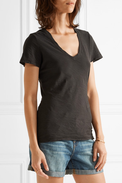 James Perse Casual T-Shirt aus Flammgarn-Jersey aus Baumwolle