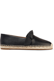 Laticia ruffled leather espadrilles