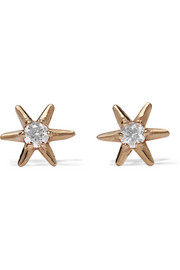 Sarah & Sebastian Star 9-karat gold diamond earrings