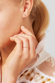 Star 9-karat gold diamond earrings