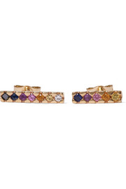 Painted 14-karat gold multi-stone earrings