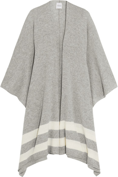 Madeleine Thompson - Striped Cashmere Wrap - Gray