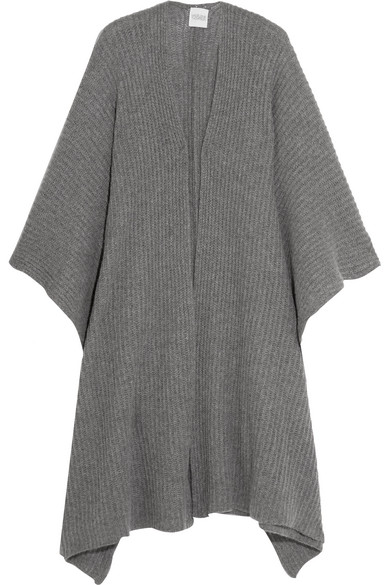 Madeleine Thompson - Ribbed-knit Cashmere Wrap - Gray