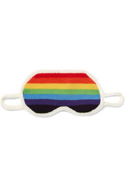 Madeleine Thompson Striped cashmere eye mask