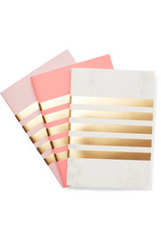 Set of three striped notebooks
