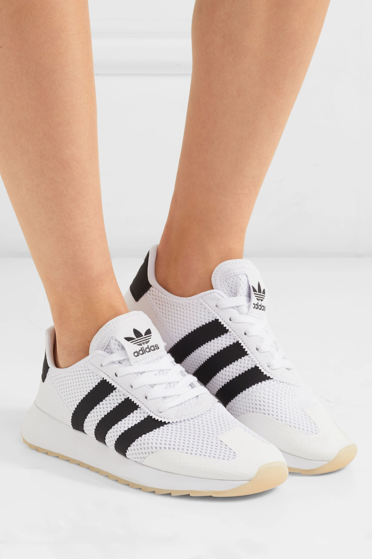 White Flashback mesh sneakers | adidas