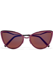 Aphrodite cat-eye metal and acetate sunglasses