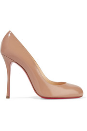 Christian Louboutin Fifetish 100 patent-leather pumps