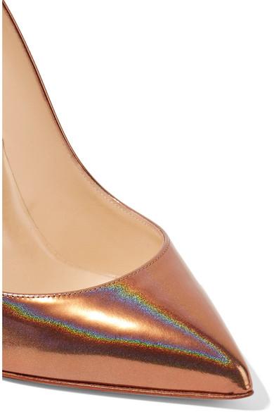 sports shoes 43e16 289e0 Pigalle Follies 100 metallic patent-leather pumps