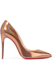 Christian Louboutin Pigalle Follies 100 metallic patent-leather pumps