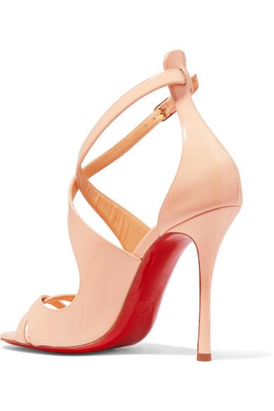 brand new 9743f 51ebe Malefissima 100 patent-leather sandals