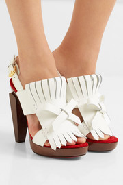 Christian Louboutin Soclogolfi 120 fringed leather platform sandals