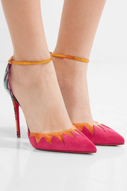 Chapito Ho 100 PVC-trimmed suede and leather pumps