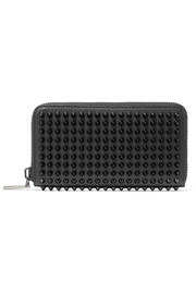 Panettone spiked textured-leather wallet